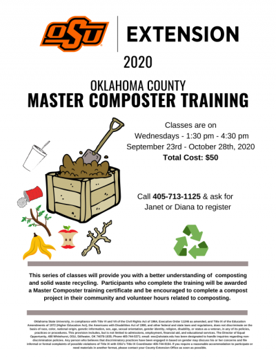 Oklahoma County Master Composter Training 2020