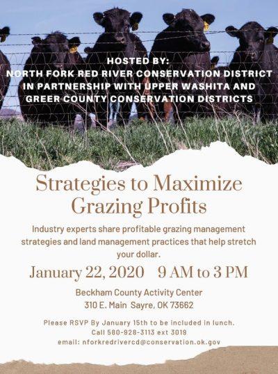 Strategies to Maximize Grazing Profits @ Sayre (Beckham County Activity Center)