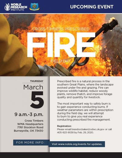 Cross Timbers Prescribed Fire Field Day @ Burneyville (Cross Timbers WMA Headquarters )