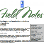 Field Notes February 2020