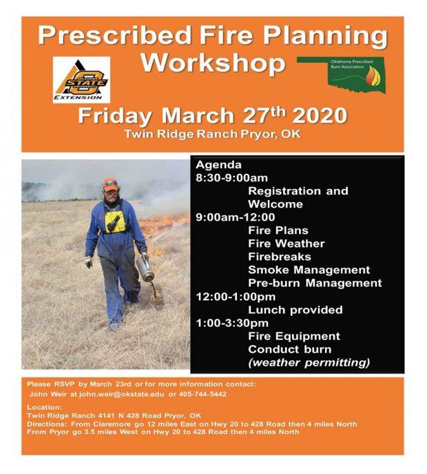 POSTPONED: Prescribed Fire Planning Workshop
