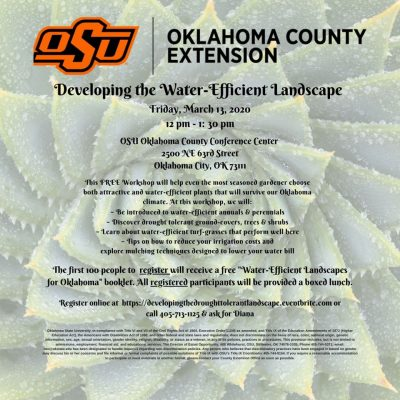 Developing the Water-Efficient Landscape @ Oklahoma City (OSU Extension Conference Center)