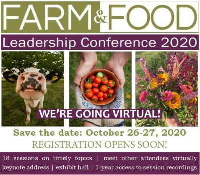 Farm & Food Leadership Conference 2020 @ online