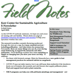 Field Notes April 2020
