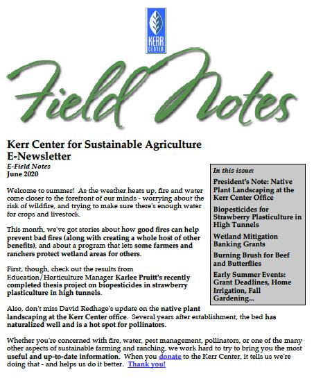 Field Notes – June 2020