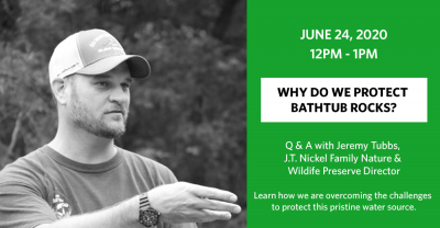 Webinar: Why We Protect Bathtub Rocks @ online