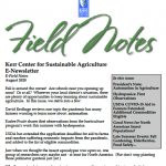 field notes august 2020