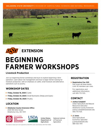 OSU Beginning Farmer Workshops @ Oklahoma City (Oklahoma County Extension Office)