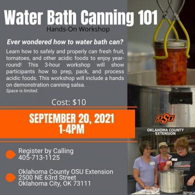 Water Bath Canning 101 @ Oklahoma City (Oklahoma County OSU Extension Center)