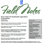 field notes september 2020