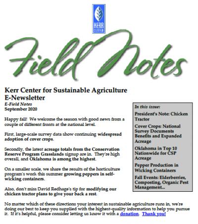 field notes september 2020