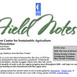 Field Notes December 2020