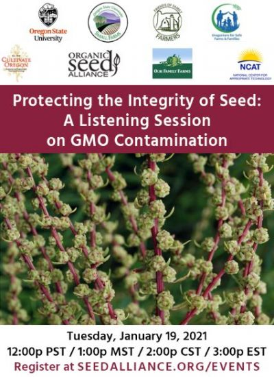 Listening Session on GMO Contamination @ online