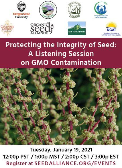 Listening Session on GMO Contamination