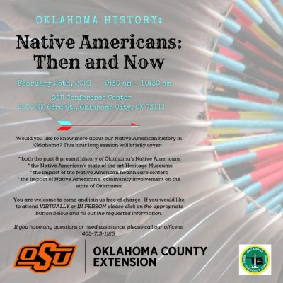 Native American History: Then & Now @ online / Oklahoma City (OSU Conference Center)