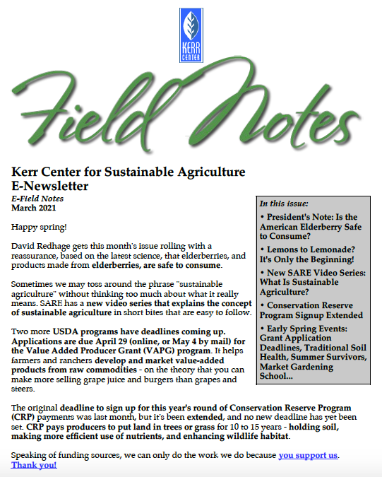 Field Notes – March 2021