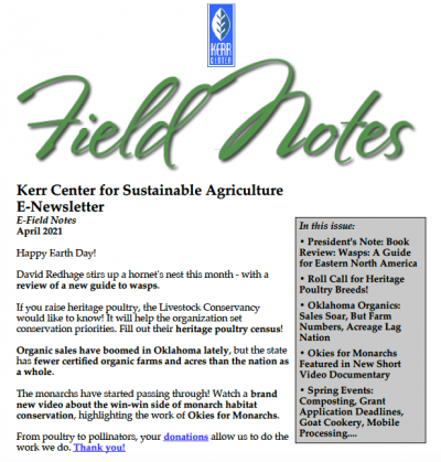 Field Notes April 2021