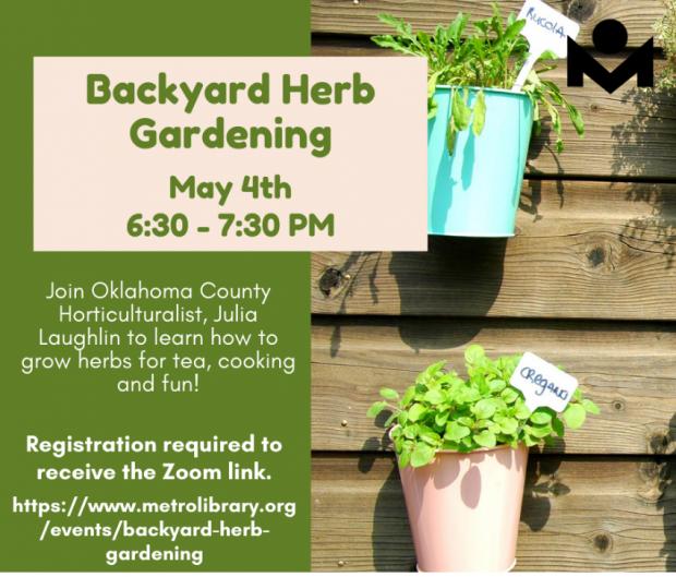 Backyard Herb Gardening