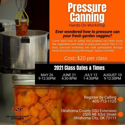 Pressure Canning @ Oklahoma City (OSU Extension Conference Center)