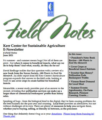 Field Notes June 2021