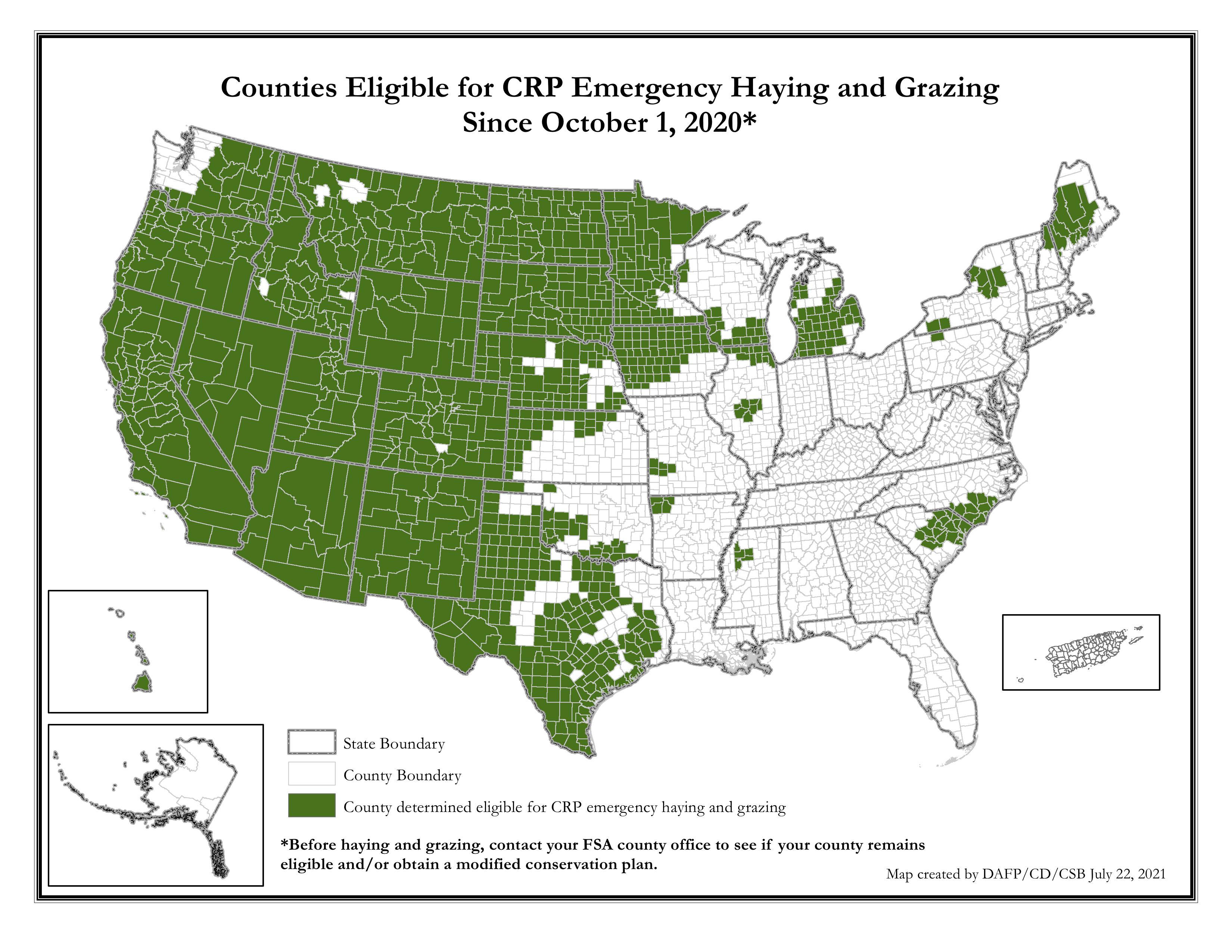 emergency haying grazing crp