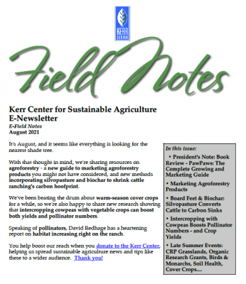 Field Notes August 2021