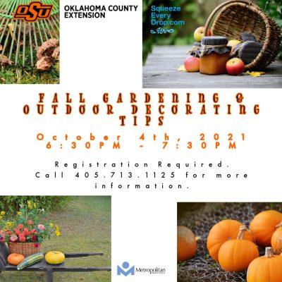 Fall Gardening & Outdoor Decorating Tips (webinar) @ online