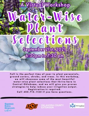 Water-Wise Plant Selections for Oklahoma @ online