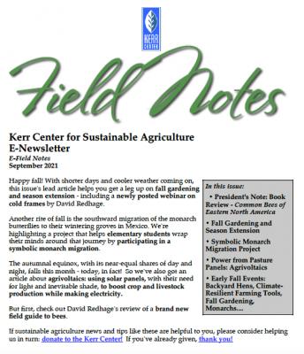 field notes september 2021
