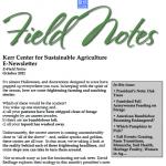 Field Notes October 2021